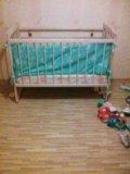 Детская кроватка+матрас+ботрики.. Фото 2.