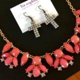 Серьги и ожерелье. Фото 1.