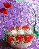 Корзины с цветами из мыла. Фото 2.