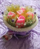 Корзины с цветами из мыла. Фото 3.