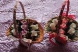 Корзины с цветами из мыла. Фото 4.