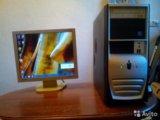 """Два ядра компьютер с монитором 17"""". Фото 1."""