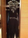 Вечернее платье эффектное с гипюровым лифом. Фото 3.