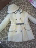 Плащ-пальто для девочки 128-140. Фото 1.