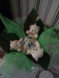 Букеты из мягких игрушек. Фото 1.