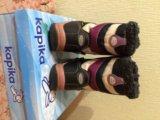 Сапожки капика для девочки, мембрана. Фото 2.