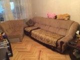 Диван-уголок.раскладной.кресло. Фото 1.