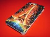 Пластиковый чехол париж на iphone 4/4s. Фото 1.