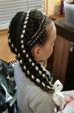 Обучение наращиванию волос, декор.плетениям волос. Фото 2.
