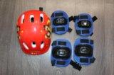 Коньки детские, шлем, налокотники, наколенники. Фото 4.