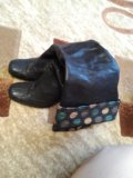 Сапоги кожаные. Фото 1.