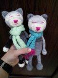 Вязаная игрушка котенок аминеко. Фото 1.