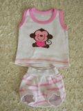 Детские вещи для малышки пакетом от 0-3 мес. Фото 4.