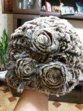 Шапка вязан.норка. Фото 1.