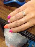 Кольцо из белого золота с бриллиантами. размер 15. Фото 3.