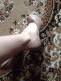 Туфли кожаные бежевые 38. Фото 2.