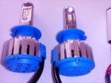 Комплект светодиодных ламп головного света н7. Фото 1.