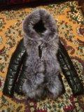 Новая кожаная куртка с натуральным мехом. Фото 2.