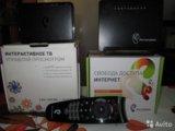 Оборудование ростелеком, wifi роутер и тв приставк. Фото 1.