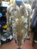 Шуба из меха рыси. Фото 1.