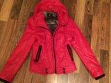 Куртка  кожаная , тёплая на осень и весну. Фото 1.