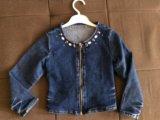 Джинсовая рубашка 104-110 р-р. Фото 1.