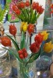Композиции цветов и деревьев из стекла. Фото 2.