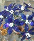 Композиции цветов и деревьев из стекла. Фото 3.