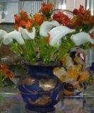 Композиции цветов и деревьев из стекла. Фото 4.
