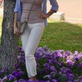 Белые джинсы. Фото 1.