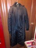 Пальтое зимнее черное. Фото 1.