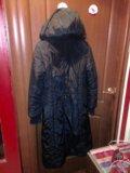 Пальтое зимнее черное. Фото 2.