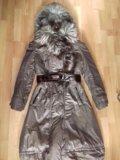 Пальто с мехом из лисы. Фото 1.
