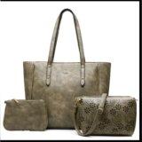 Сумка женская и сумочки (набор из 3 шт.). Фото 1.