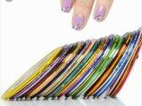Фольга и клей для дизайна ногтей. Фото 4.