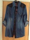 Джинсовая рубашка женская (новая). Фото 1.