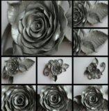 "Брошь  ""серебряная роза"". Фото 2."