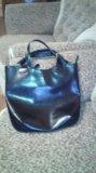 Объемная кожаная сумка. Фото 3.