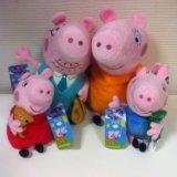 Семья свинки пеппа (мягкие игрушки). Фото 1.
