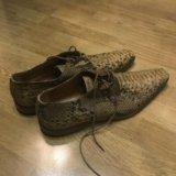Новые мужские туфли из кожи питона, размер 45. Фото 1.