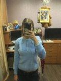 Пушистый свитер голубой. Фото 4.