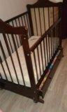 Детская кроватка+матрас. Фото 2.