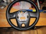 Кожаный мульти руль kia cerato. Фото 2.
