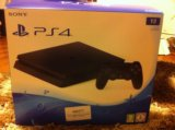 Новая play station 4slim 1tb + fifa17 + 2 dualsh. Фото 1.