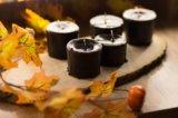 Чёрные свечи ручной работы. Фото 3.