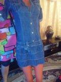 Платье джинсовка. Фото 1.