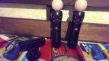 Два джойстика ps3 move + камера sony + 2 игры. Фото 2.