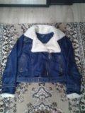Утепленная джинсовая курточка женская 46-48. Фото 1.