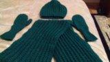 Комплект:шапка снуд и варежки. Фото 1.