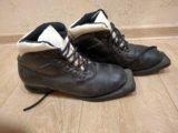 Ботинки лыжные кожаные. Фото 1.